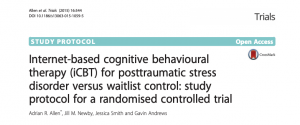 Internet-based cognitive behavioural therapy (iCBT) for posttraumatic stress disorder versus waitlist control