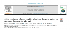 Online mindfulness-enhanced cognitive behavioural therapy for anxiety and depression