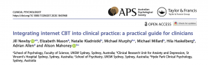 Integrating internet CBT into clinical practice